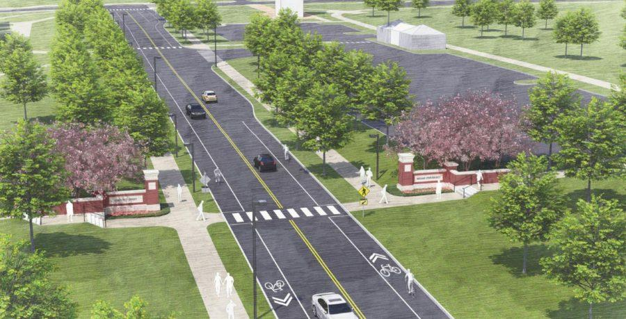 Officials said repositioned crosswalks near the new gateway to Oxford on Route 73 will improve pedestrian safety.