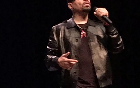 Ice-T speaks to an audience of some 700 people at Miami University. <em>Photos by A.L. Blair</em>