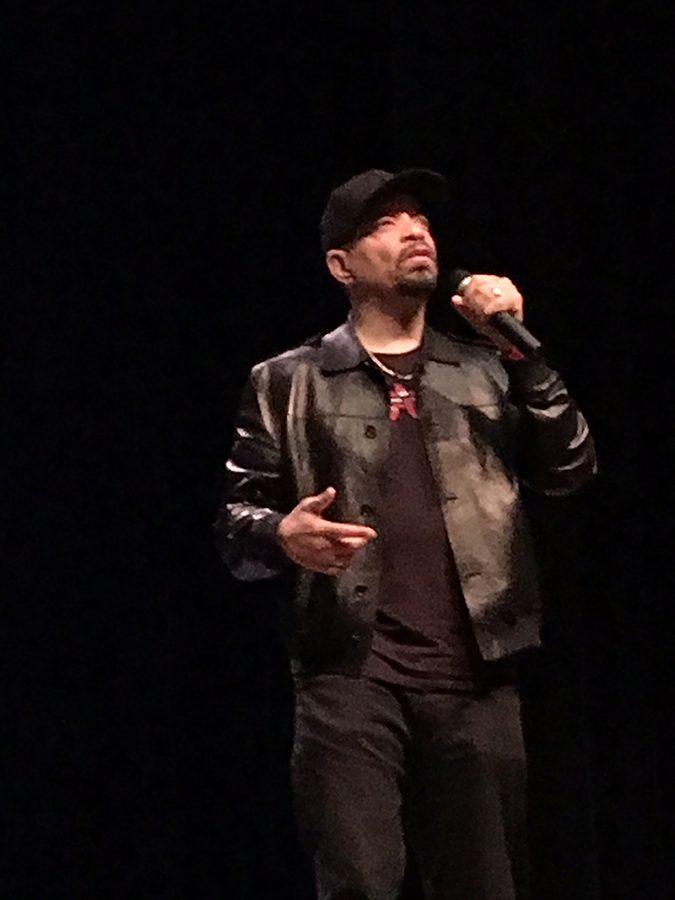 Ice-T speaks to an audience of some 700 people at Miami University. Photos by A.L. Blair
