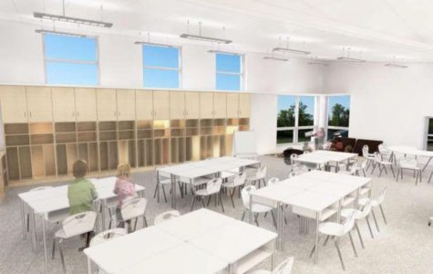 With around 500 students in the building, the new school will have three classrooms for each grade level, as well as one for Pre-K. <em>Rendering provided by the Talawanda School District</em>