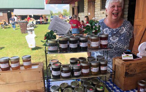 Carol Hiatt sells her homemade jams at the 2018 Apple Butter Festival. <em>Photo by Tori Levy</em>