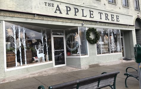 The Apple Tree, a part of the Oxford business scene for 39 years, is one of many local businesses that benefits from the Shop Small Saturday and other festive events uptown during the holiday season. <em>Photo by Lauren Snyder</em><br>