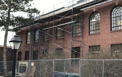 The city hopes to have the reconstruction of the old municipal building into the new police station by May or June. <em>Photo by Patrick Keck</em><br>