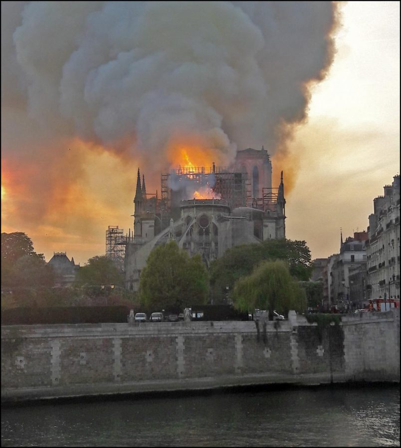The world watched as Notre Dame cathedral in Paris burned Monday evening. It will take billions of dollars and many years to restore the 850-year-old structure. Photo courtesy of Wikimedia Commons