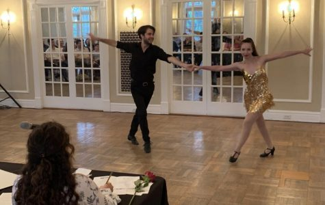 Geneva Mommson and Remy Willocks give a first-place cha-cha performance. <em>Photo by Josiah Collins</em>