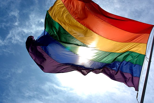 The rainbow flag is a symbol of the Pride movement. Creative Commons photo from Wikimedia