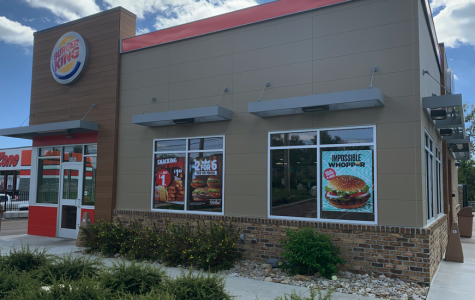 The Burger King on College Corner Pike now offers a meatless option to their traditional Whopper. <em>Photo by Mallory Hackett</em><br>