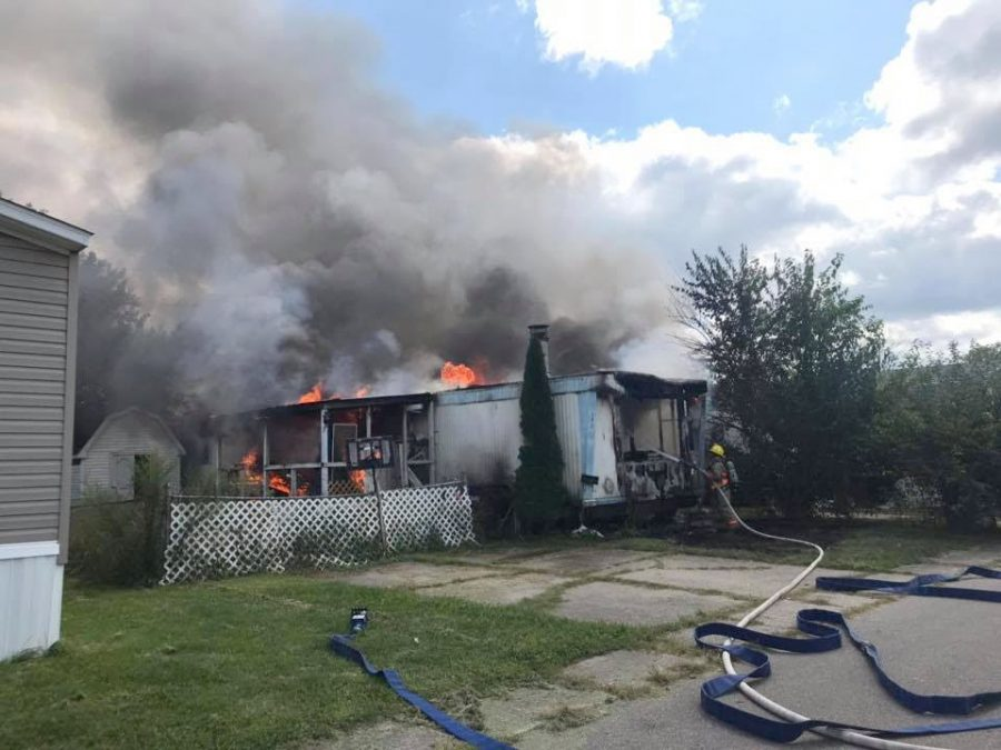 Oxford+police+and+firefighters+responded+to+a+mobile+home+fire+that+police+suspect+was+arson%2C+on+Sept.+7.+Photo+courtesy+of+the+Oxford+Police+Department