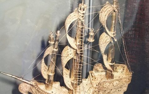 This silver ship, created with traditional filigree techniques was created by Skender Rakovica, now located in the home of a customer in France. This scale of work typically takes months to complete. <em>Photo courtesy of Krenare Rakovica</em>