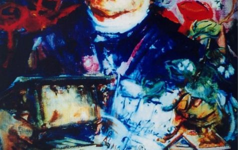 Lorenzo Langstroth, the father of American beekeeping, in a painting by Miami Art Professor Crossan Curry. This portrait hung in Miami's Langstroth Cottage, but went missing several years ago. Have you seen it? <em>Photo courtesy of Alexander Zomchek</em>