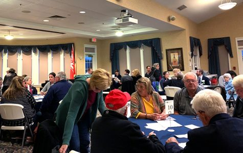 Local residents attend candidates' forum hosted by the League of Women Voters of Oxford. <em>Photo by Abby Jeffrey.</em>