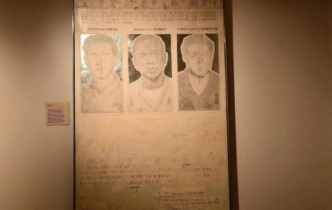 "<strong>""</strong>Missing No. 1,"" by artist Phillip Morsberger, on loan to the Miami University Art Museum, depicts three murdered civil rights workers from 1964. A celebration of 1964's Freedom Summer, takes place Saturday, Nov. 2, at the National Underground Railroad Freedom Center, in Cincinnati. <em>Photo by Marla Chavez Garcia</em>"