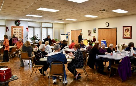 The camaraderie of a homemade bean soup and cornbread luncheon is always a popular part of the annual Oxford Seniors' Holiday Market. <em>Photo by Lauren Shassere</em><br>