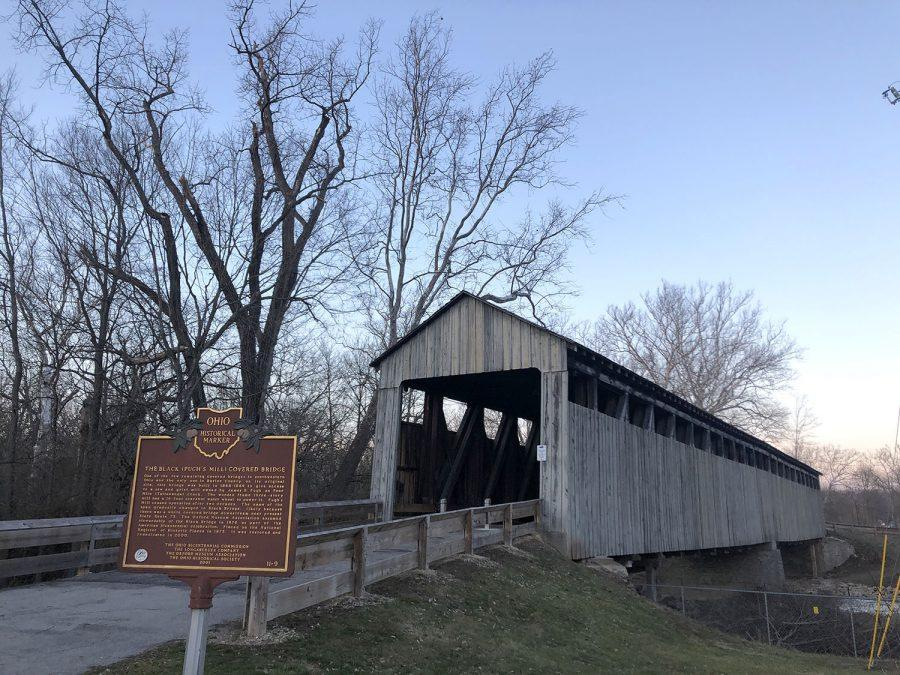 Now on the National Register of Historic Places, the Black Covered Bridge was built to give farmers easy access to local saw and grist mills. Photo by Halie Barger