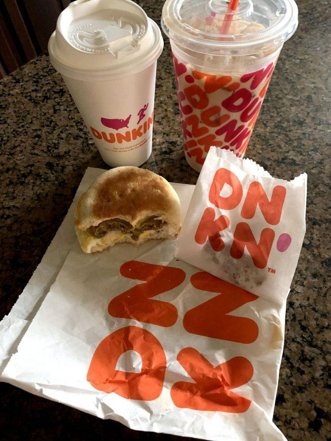 The Egg, Cheese and Beyond Sausage sandwich now is featured on Dunkin' Donuts menu. Photo by Emma Hendy.