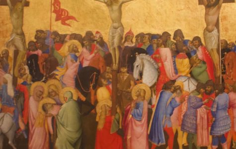 A painting of the crucifixion by Agnolo Gaddi from the Uffizi Gallery in Florence, Italy. <em>Photo by Sacha DeVroomen</em><br>