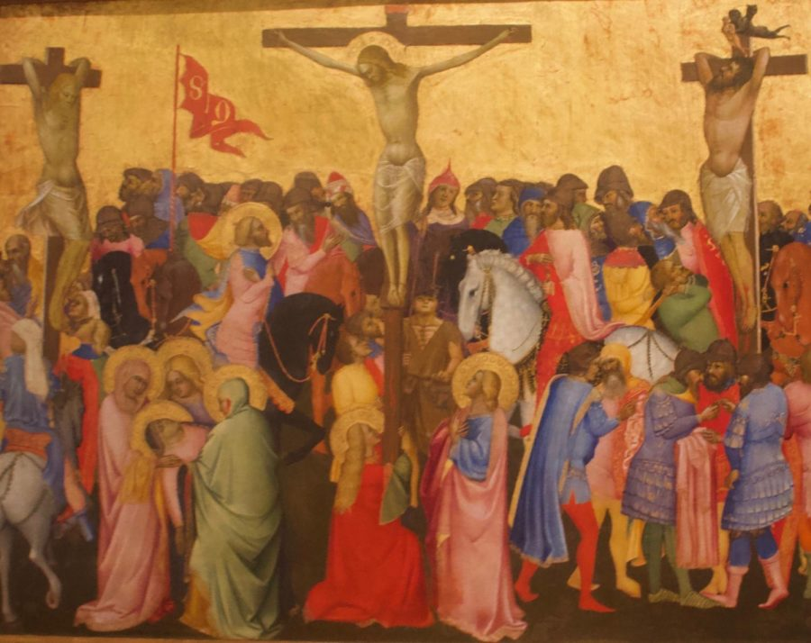%26nbsp%3BA+painting+of+the+crucifixion+by+Agnolo+Gaddi+from+the+Uffizi+Gallery+in+Florence%2C+Italy.%26nbsp%3B+Photo+by+Sacha+DeVroomen