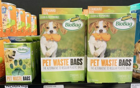 BPI certified pet waste bags in the Moon Co-op. <em>Photo by Yuhuizi Zhu</em>