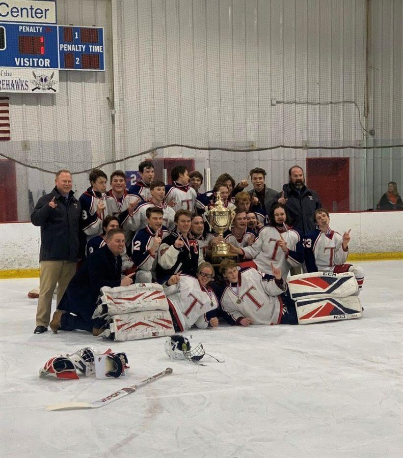 The Talawanda High School hockey team wins the Southwest High School Hockey Championship this season. Photo provided by Talawanda High School Hockey