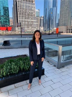 Isabella Tersigni visits Chicago with the group she leads, Women in Business. Photo provided by Women in Business
