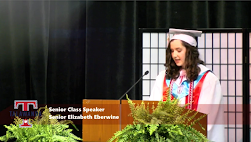 "Talawanda Senior Elizabeth Eberwine tells her classmates at the school's virtual graduation that ""obstacles are not permanent"" Photo by Morgan Schneider"