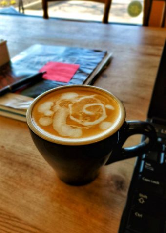 A cup of espresso from freshly ground beans was a specialty at the Oxford Coffee Company cafe. <em>Photo provided by Mostafa Rousta</em>