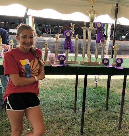 Kennedi Mondello was a prize winner at the 2019 Butler County Fair and plans to compete again this year. <em>Photo provided by Kennedi Mondello </em>