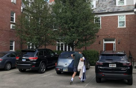 The SAE house on Talawanda Street is one of 23 fraternities on campus that are staggering move-in days to reduce crowding in an effort to cut down on the spread of COVID-19.