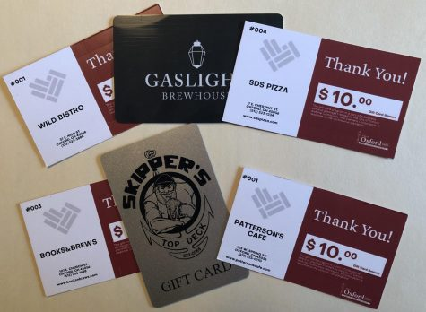The city of Oxford is selling gift cards to local businesses
