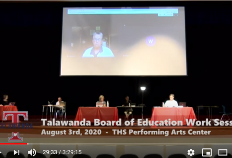 The Talawanda Board of education meets in front of a virtual audience, and decides to start the school year online, when classes resume on Aug. 24.