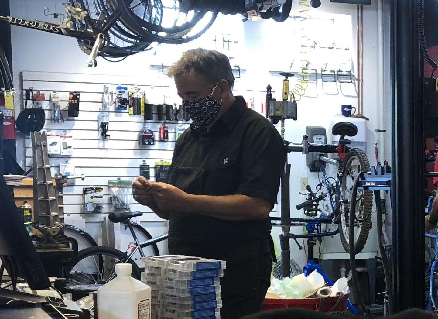 Doug Hamilton returned to Oxford and took over the bike shop 18 years ago