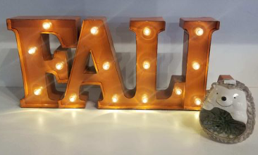 Crafts such as this sign of Fall will be for sale at the College Corner Outdoor Fall Festival, Sept. 26.