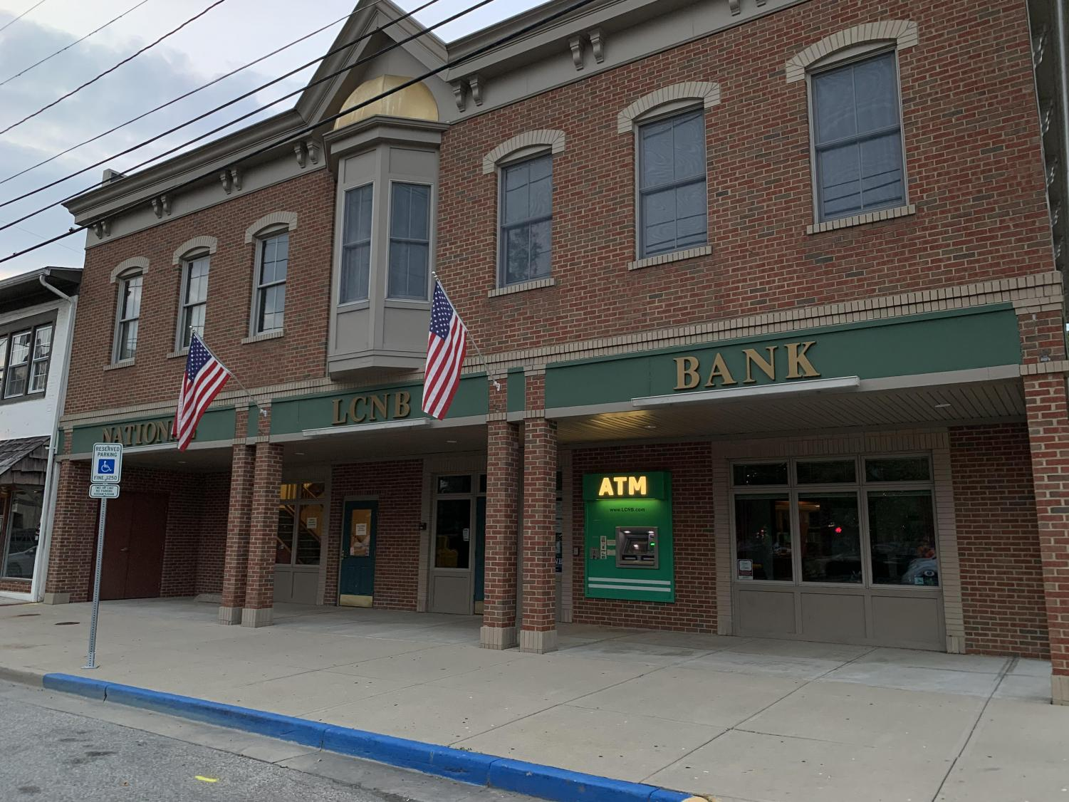 The LCNB bank building is a proposed location for public restrooms