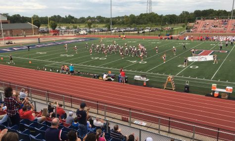 At Talawanda's Aug. 28 home opener against Dayton Carroll, football players and cheerleaders were allowed on the field but only a few fans were allowed in the stands.