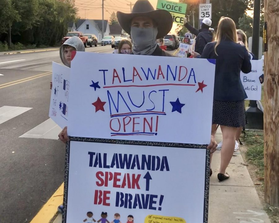 Parents protest Talawanda school