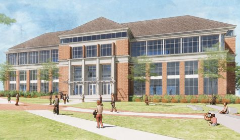 Rendering of the Richard M. McVey Data Science Building.