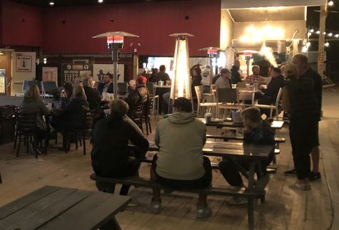 Donald Trump supporters gather at Big Buls Roadhouse to watch the debate on Tuesday