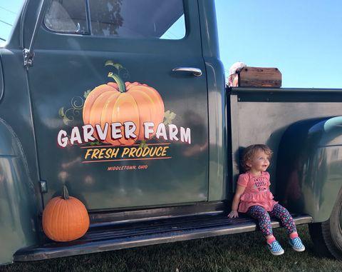 Rhonda Burke and her daughter enjoy a day at Garver Farm