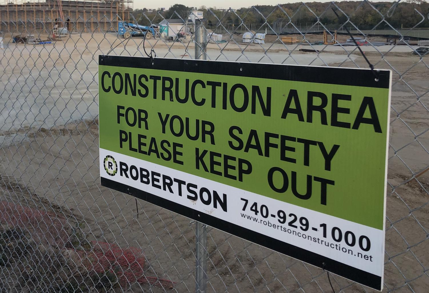 School officials take precautions to protect students and community members safe around the construction project