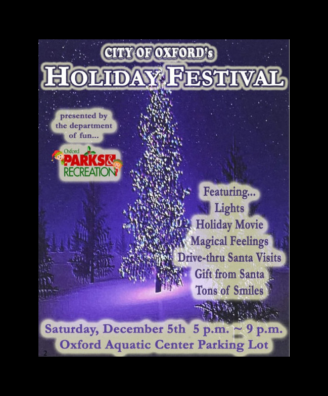 Oxford to hold holiday festival Dec. 5