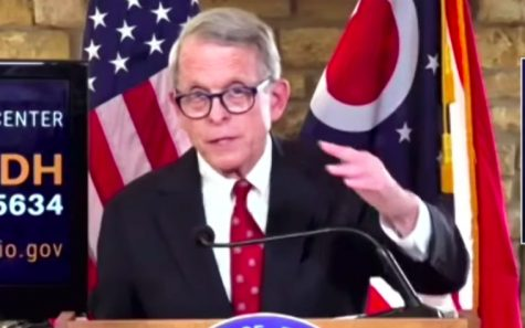 Speaking at a Columbus press conference on Nov. 19, Ohio Gov. Mike DeWine urges all Ohioans to abide by the statewide 10 p.m. to 5 a.m. curfew to curb the spread of the coronavirus.