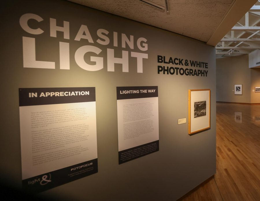 """Chasing Light,"" an exhibition of black and white photographs, is one of several exhibits at the Miami University Art Museum that can be viewed in person or virtually."