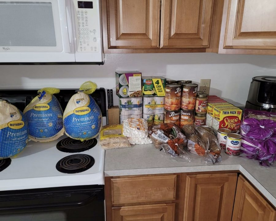 Every year Gary Stewart and his daughter Madyson, load up their kitchen counter in Oxford with groceries they turn into holiday meals for needy families in the area.