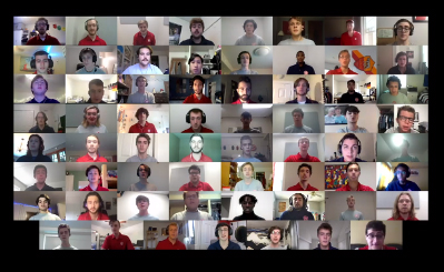 The Miami University Glee Club sang to celebrate heroes as part of the virtual celebration. Photo by Tuo Meng