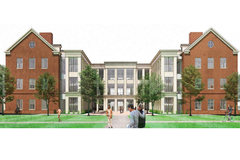 An artist's rendition of the proposed Clinical Health Sciences building that will house the expanded Department of Nursing.
