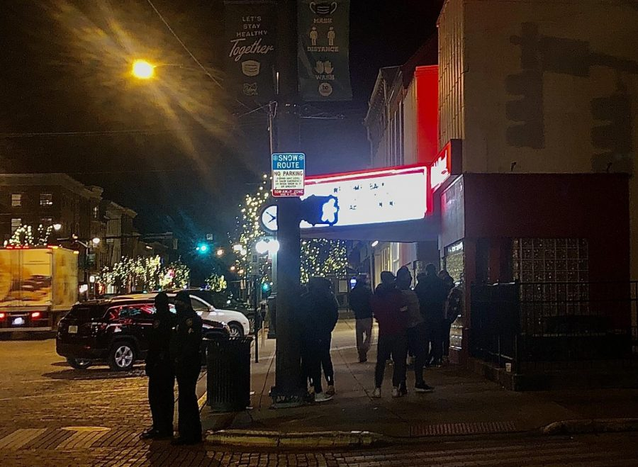 People began to line up outside of the Brick Street Bar & Grille, 36 E. High Street, at about 8 p.m. Thursday, waiting for a chance to go inside. The statewide curfew was pushed back from 10 p.m. to 11 p.m. Thursday night.