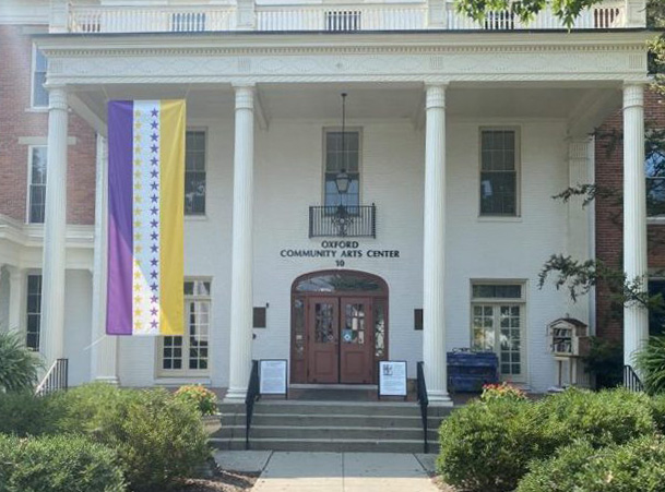 The Oxford Community Arts Center at 10 S. College Ave., is a non-profit organization dedicated to celebrating, exhibiting and performing the arts.