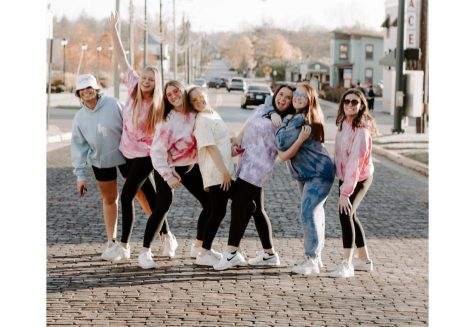 A group of Annika's sorority friends model for the photo shoot prior to Apparel by Anni's relaunch in November.