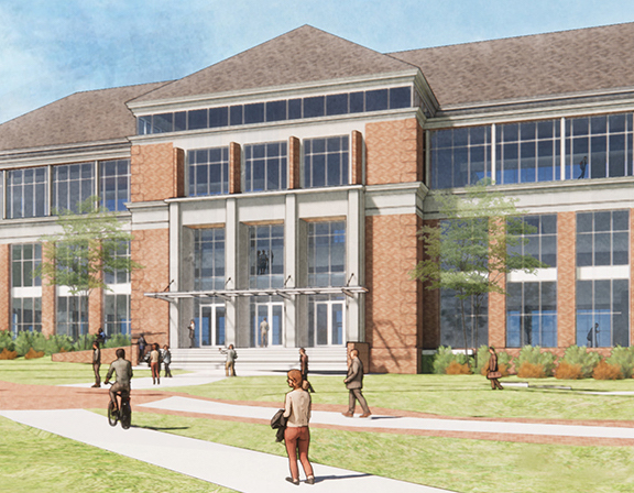 An artist's rendering of the Data Science building, expected to open in the summer of 2023.