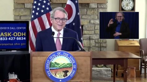 Ohio Gov. Mike DeWine announces the lifting of the pandemic-inspired curfew during a Thursday afternoon press conference in Columbus.